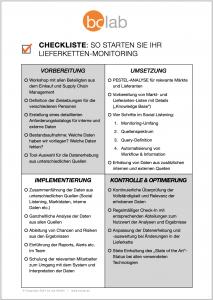 bc.lab Checkliste Lieferketten-Monitoring
